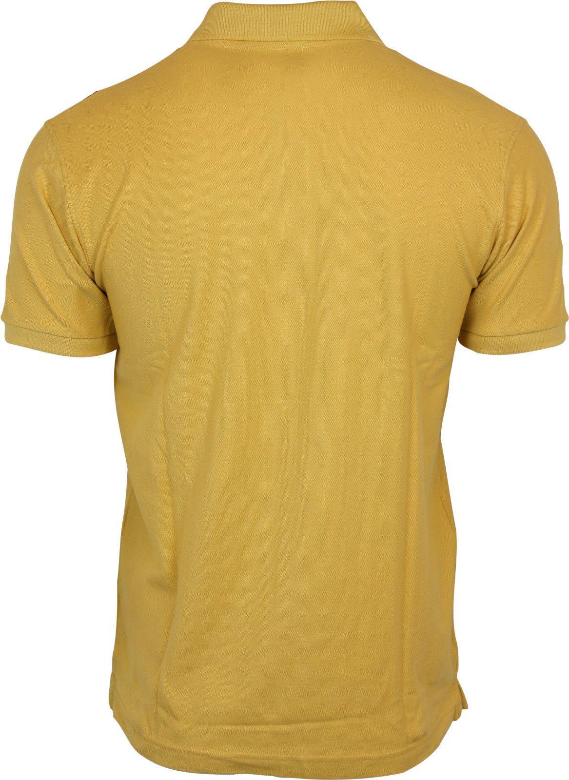 Relco Mens Stripe Pique Polo Shirt Mustard Navy Burgundy